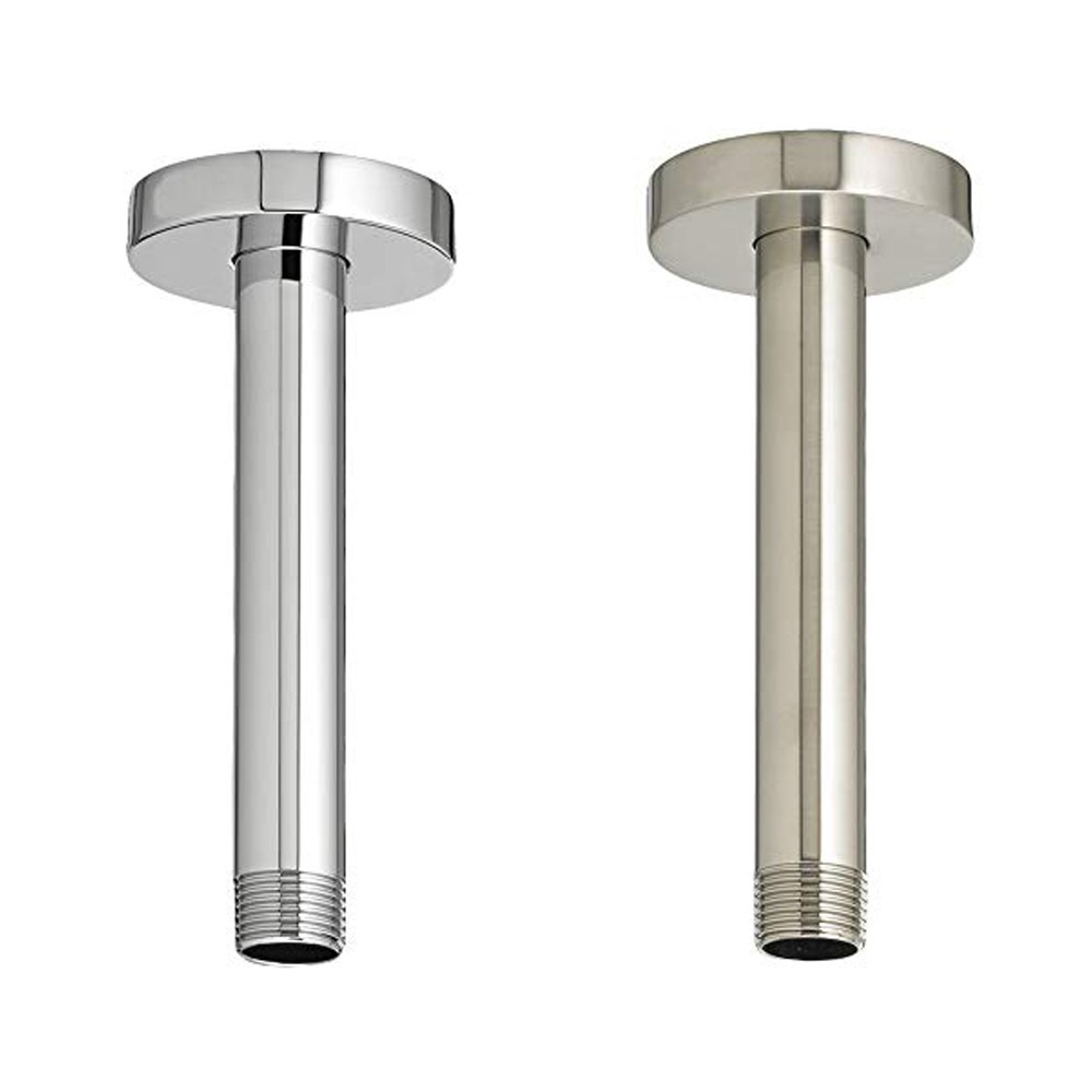 8 Round Stainless Steel Shower Head Extension Arm Chrome Brush
